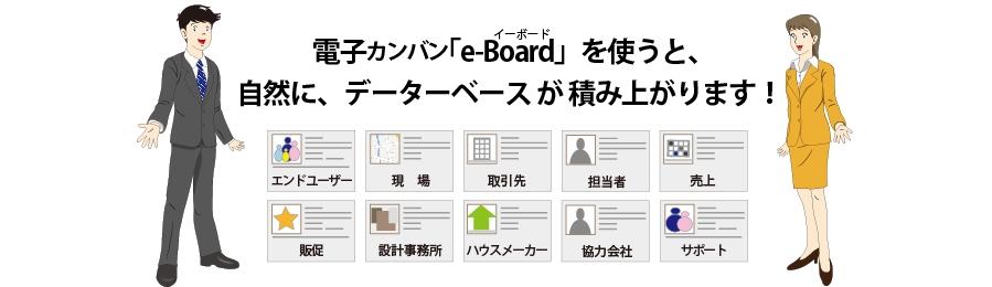 電子カンバン【e-Board】のお客様情報で次の営業戦略が立てられます